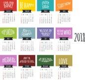 Calendario per progettazione di vettore di 2017 anni illustrazione di stock