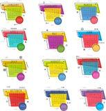 Calendario per progettazione di vettore di 2018 anni illustrazione di stock
