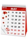 Calendario per Victory Day Immagini Stock Libere da Diritti