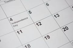 Calendario perpetuo sulla bandiera americana Immagini Stock