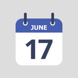 Calendario piano dell'icona Immagini Stock