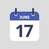 Calendario plano del icono Imagenes de archivo