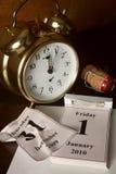 Calendario por Año Nuevo Imagen de archivo libre de regalías