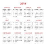 Calendario por 2018 años Fotografía de archivo