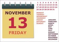 Calendario por el año Fotografía de archivo libre de regalías