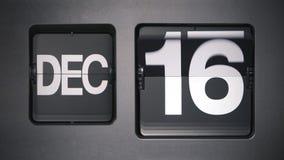 Calendario que muestra diciembre almacen de metraje de vídeo
