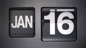 Calendario que muestra enero metrajes