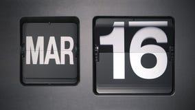 Calendario que muestra marzo almacen de metraje de vídeo