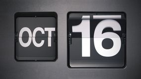 Calendario que muestra octubre almacen de video