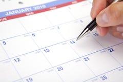 Calendario que planea 2010 Imagen de archivo libre de regalías