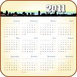 Calendario retro del estilo 2011 Fotos de archivo