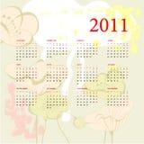 Calendario romántico para 2011 Foto de archivo libre de regalías