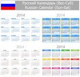 Calendario ruso Sun-Sat de la mezcla 2014 Imagenes de archivo