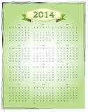Calendario semplice 2014 Fotografia Stock Libera da Diritti