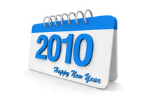 calendario semplice 3D 2010 Fotografia Stock