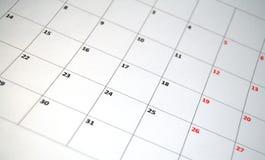 Calendario simple Foto de archivo libre de regalías