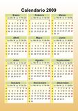 Calendario spagnolo Immagine Stock