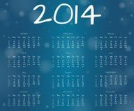 calendario subacqueo di anno 2014 Fotografia Stock Libera da Diritti