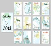Calendario sveglio 2018 Fotografia Stock