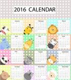 Calendario sveglio Immagini Stock Libere da Diritti