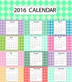 Calendario sveglio Fotografia Stock