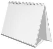 Calendario tridimensionale vuoto Immagine Stock
