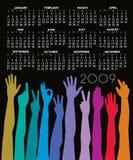 Calendario unido 2009 Foto de archivo