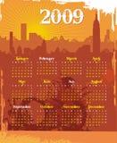 Calendario urbano 2009 de Grunge Fotografía de archivo