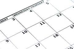 Calendario vacío Fotos de archivo