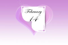 calendario圣valentino 库存图片
