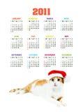 Calendario verticale di colore per 2011 anno Immagini Stock