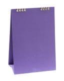 Calendario viola in bianco Fotografia Stock Libera da Diritti