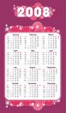 calendario violeta abstracto 2008   Foto de archivo libre de regalías