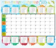 Calendario y calendario de la escuela Imagen de archivo