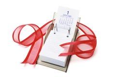 Calendario y cinta de escritorio Fotografía de archivo libre de regalías