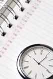 Calendario y reloj Imagenes de archivo