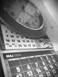 Calendario y reloj Fotos de archivo libres de regalías