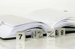 Calendario y un diario Imagen de archivo