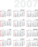 Calendario2007_2v. 2007 Calendar - Vertical Orientation Stock Illustration