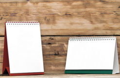 Calendarios de escritorio en blanco Imágenes de archivo libres de regalías