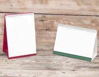 Calendarios de escritorio en blanco Imagen de archivo libre de regalías