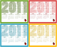 Calendars for 2011 Royalty Free Stock Photography