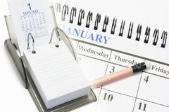 Calendars Royalty Free Stock Photography