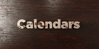 Calendars - grungy wooden headline on Maple  - 3D rendered royalty free stock image. This image can be used for an online website banner ad or a print postcard Royalty Free Stock Images