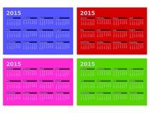 2015 Calendars. An image of a 2015 calendars Stock Photos