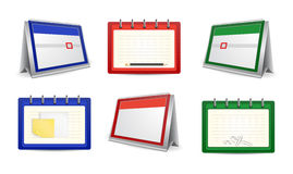 Calendars and organizers in various colors Royalty Free Stock Photography