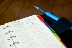 Calendars page Royalty Free Stock Photography