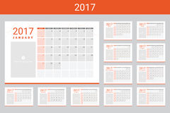 2017 calendars with space for your pictures Stock Images