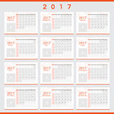 2017 calendars with space for your pictures Stock Photography