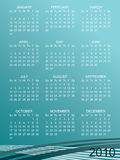 Calender for 2010. On blue gradient background royalty free illustration